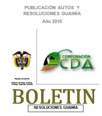 imagen alusiva a  Resoluciones Guainia 2010
