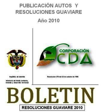 imagen alusiva a  Resoluciones Guaviare 2010