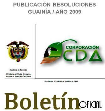 imagen alusiva a  Resoluciones Guainía Año 2009