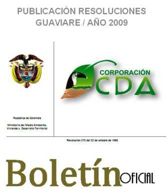 imagen alusiva a  Resoluciones Guaviare Año 2009