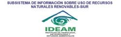 Gráfica alusiva a logo de Subsistema de Información Sobre Uso de Recursos Naturales Renovables-SIUR