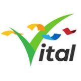 gráfica alusiva  a logo de Vital