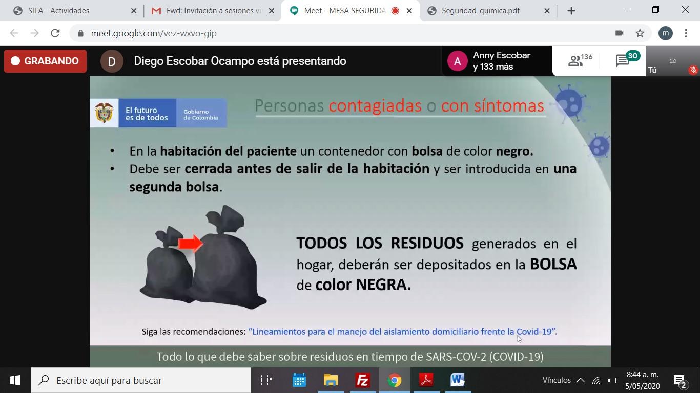 Gráfica alusiva a la noticia SEGURIDAD QUIMICA EN EL MARCO DEL COTSA