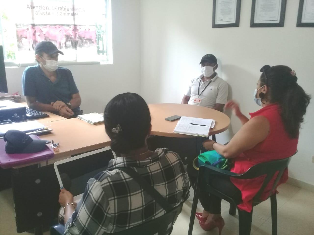 Gráfica alusiva a la noticia Encuentro entre el proyecto Negocios Verdes y el Instituto Colombiano Agropecuario