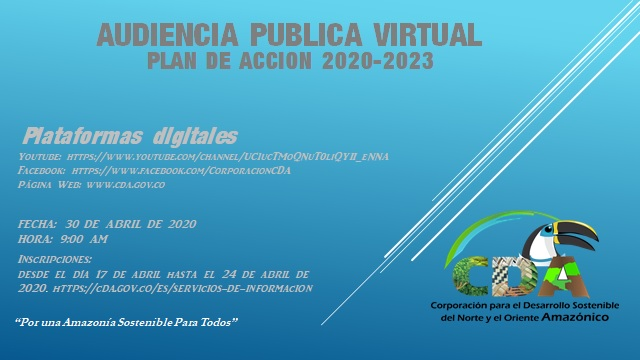 Gráfica alusiva a la noticia INVITACIÓN AUDIENCIA PUBLICA VIRTUAL