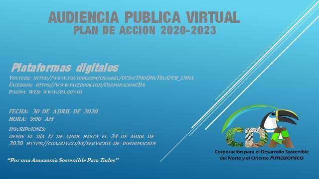 Gráfica alusiva a INVITACIÓN AUDIENCIA PUBLICA VIRTUAL