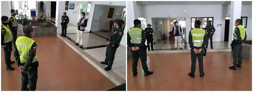 Gráfica alusiva a  La Corporación CDA, Seccional Vaupés, sensibiliza a personal de la policía frente a temas de atención y manipulación de la fauna silvestre
